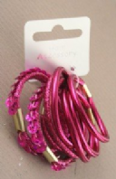 Card of 8 bright coloured elastics (Code 2740)